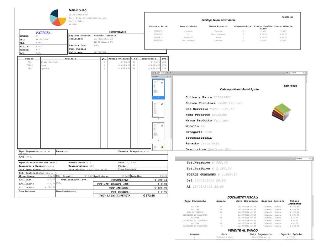 Esempio Modelli Fattura Catalogo Listino in Pdf