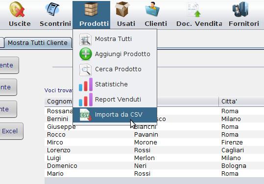 come importare prodotti o clienti nel software gestionale magazzino e fatturazione