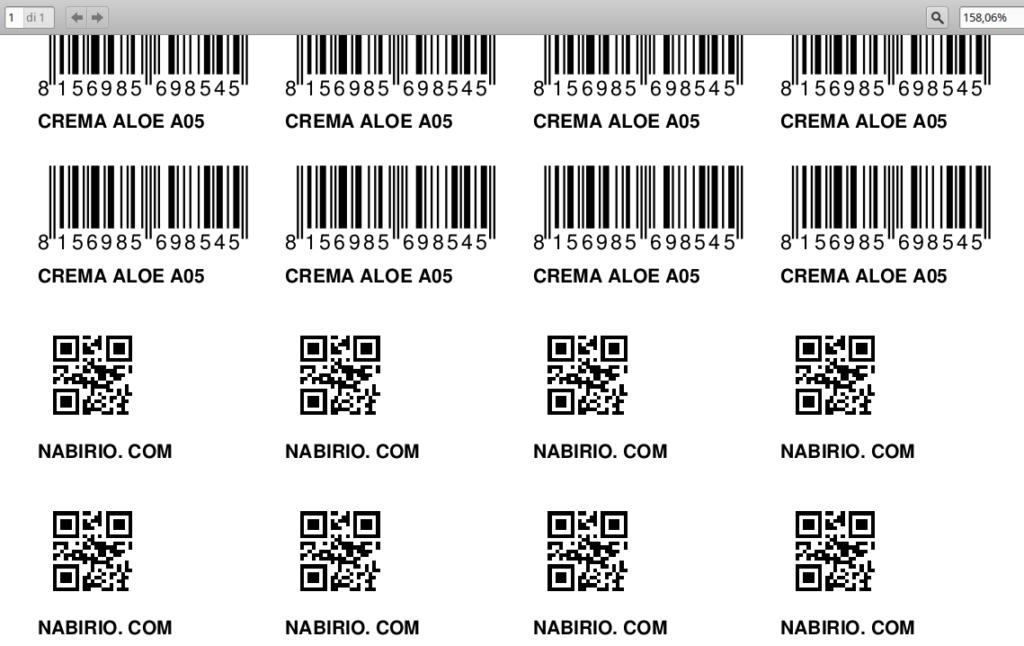 Creare etichette barcode gratis nabirio for Codice fiscale da stampare