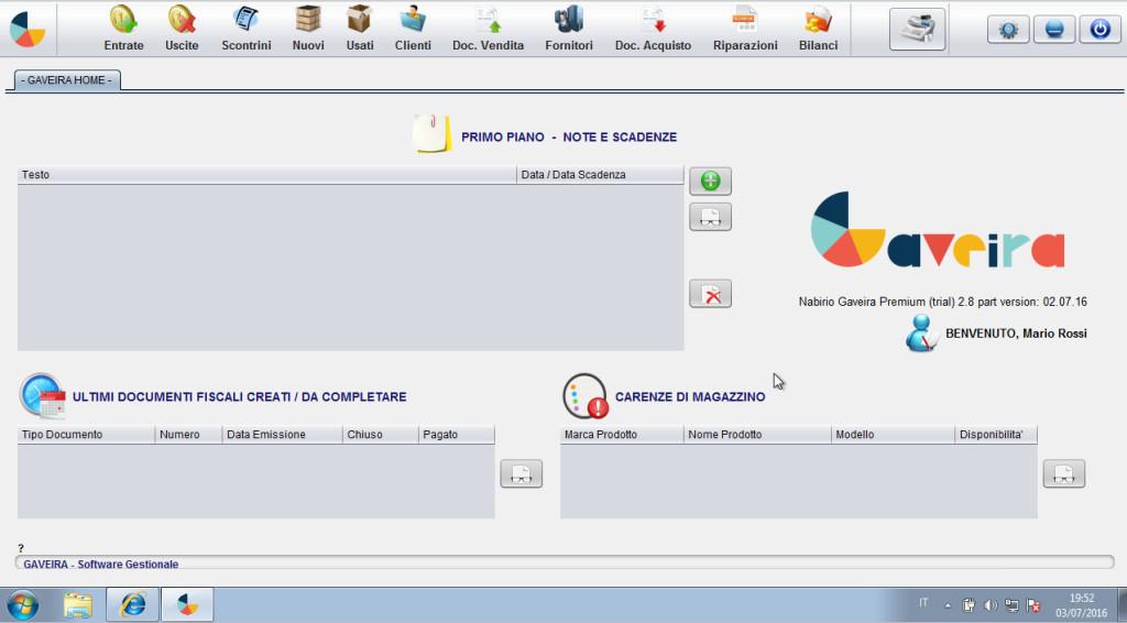 Home Gaveira Software Gestionale Magazzino e Fatturazione