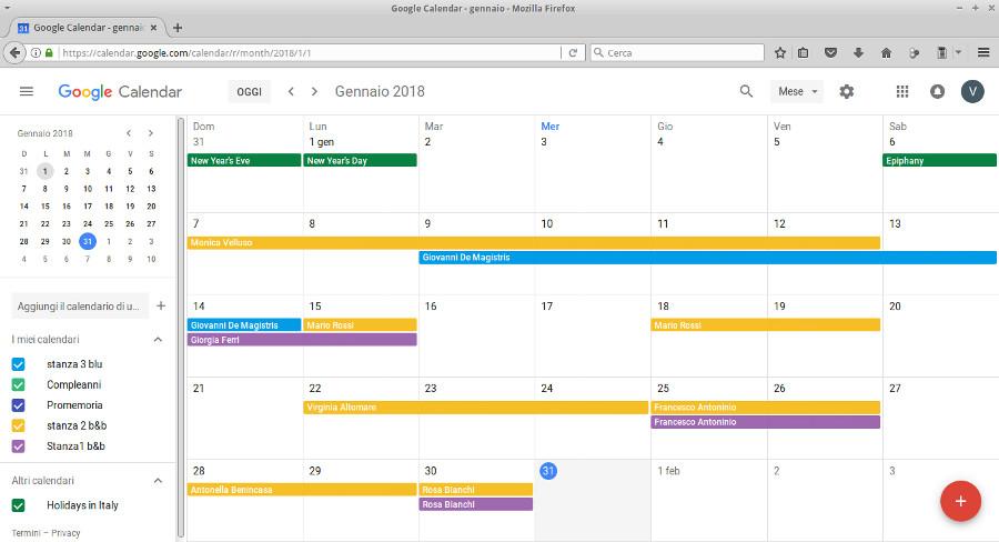 Calendario Prenotazioni Hotel Excel.Guide Roomone Nabirio