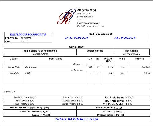 Calendario Prenotazioni Hotel Excel.Check In Veloce Prenotazione Nabirio