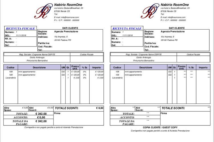 pdf ricevuta fiscale creazione documenti fiscali ricevute fatture senza abbonamento