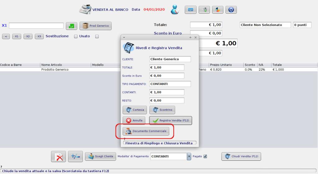 Stampare lo scontrino elettronico e ricevuta fiscale elettronica senza registratore di cassa dai software gestionali nabirio