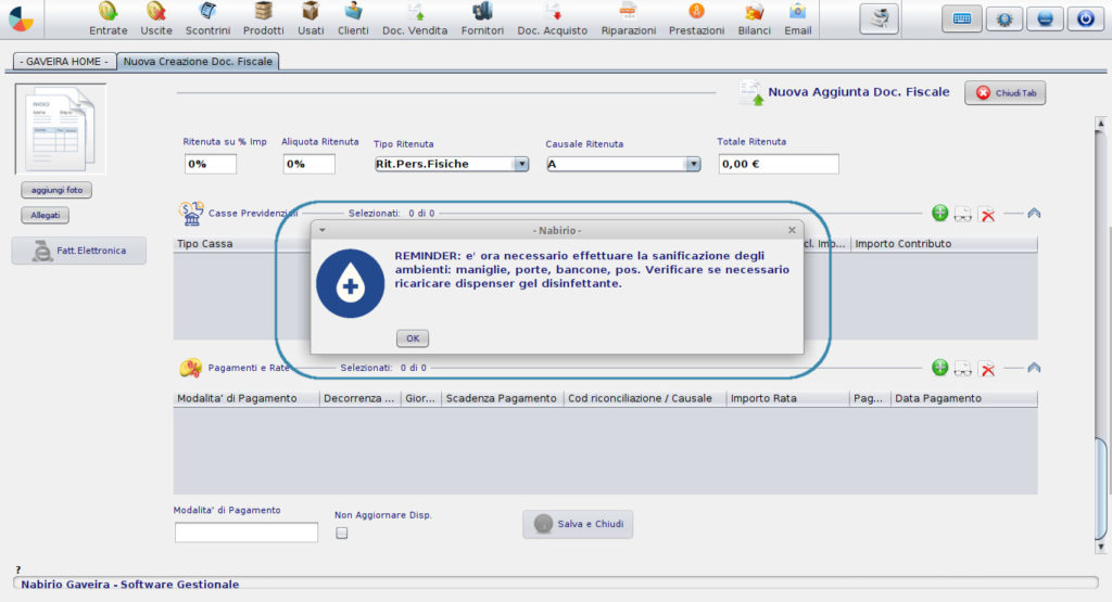 Alert Igiene Software Fase2 Covid-19 coronavirus